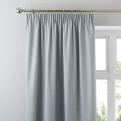 Excellent collection of ready made pencil pleat curtains perfect for all rooms in your home. Fully lined pencil pleat curtains and blackout pencil pleat curtains, all available from Dunelm. Duck Egg Curtains, Curtains Dunelm, Bedroom Curtains, Bedroom Decor, Bedroom Ideas, Grey Pencil Pleat Curtains, Blackout Eyelet Curtains, Ideas, Yurts