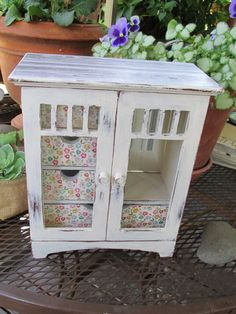 Shabby Chic White Jewelry Box hand painted Farm House by Eweniques, $99.00