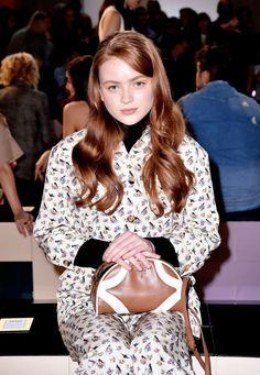 Sadie Sink attends Prada Spring/Summer 2020 Womenswear Fashion Show on September 2019 in Milan, Italy. Prada Spring, Sadie Sink, Girl Inspiration, Badass Women, Zendaya Coleman, Millie Bobby Brown, Celebs, Celebrities, Celebrity Crush