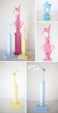 Painted Gymnastics Trophies   DIY   Gym Gab