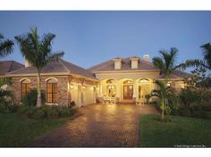 Home Plans HOMEPW09354 - 3,331 Square Feet, 4 Bedroom 3 Bathroom Florida Home with 3 Garage Bays
