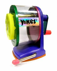 YIKES Vintage Pencil Sharpener - one of my favorite birthday presents ever. Seriously. An aspiring artist has to keep those pencils sharp ;).
