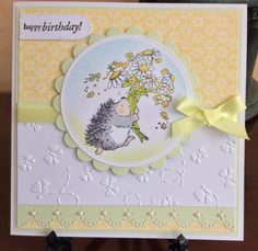 PBSC Spring Flowers by Michele G - Cards and Paper Crafts at Splitcoaststampers Birthday Cards For Women, Handmade Birthday Cards, Happy Birthday Cards, Greeting Cards Handmade, Baby Thank You Cards, Penny Black Cards, Bee Cards, Embossed Cards, Copics