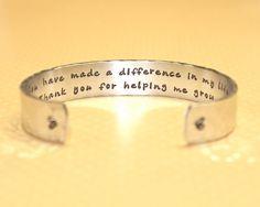 Teacher Gift | Gift for Teachers | Daycare Gift | Babysitter Gift | Nanny Gift | Thank you for helping me grow Bracelet by Korena Loves on Etsy, $25.00