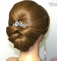 Wedding Hairstyles For Long Hair Bridal updo. Wedding hairstyles for medium long hair. Medium Long Hair, Medium Hair Styles, Short Hair Styles, Hairstyles With Bangs, Braided Hairstyles, Wedding Hairstyles, Arabic Hairstyles, French Hairstyles, Wave Hairstyles