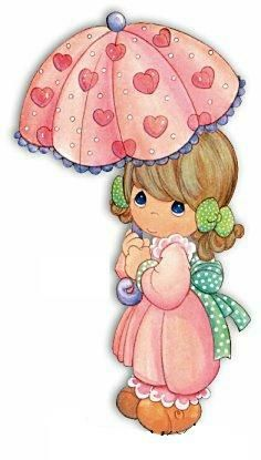 Precious Moments Clip Art - I had these everywhere when I was a little girl. On my walls, pillows, blankets, figurines, ect