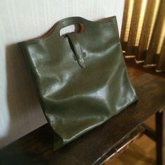 handmade leather bag