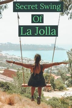 california travel La Jolla has several secret swings with incredible views to the coast line, excellent for sunsets. Ill give you one and is up to you to discover the others. La Jolla California, California Coast, California Travel, Southern California, California Living, Vacation Spots In California, California Fashion, California Style, San Diego Vacation