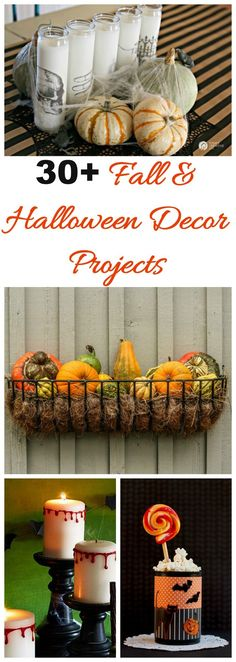 Thees 30+ Halloween Decor projects will transform your home into a spooky and eerie place for the holiday. #halloweencrafts #halloween diu