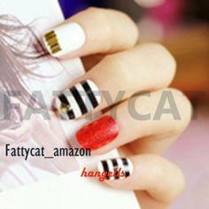 HOT SHAPE TWO-COLOR FASHION JAPANESE 3D NAIL ART 24 nails