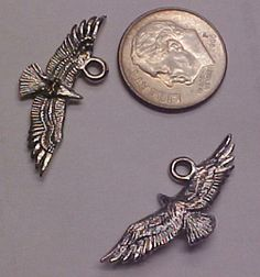 Eagle Charm, Great for Jewelry and Crafts $2.25