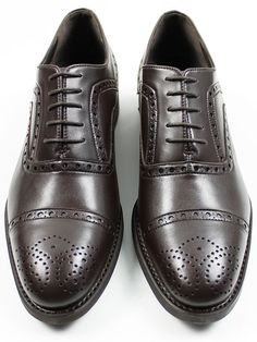 Vegan mens Goodyear Welted Oxford Brogue Shoes by Wills London | BLACK