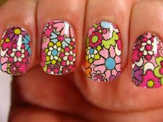 """These are so awesome and so cute!!!! Sally Hansen Salon Effects nail polish strips in """"girl flower"""""""