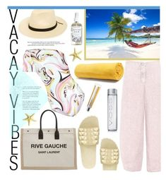 """""""Beach Please: Vacay Outfit"""" by joliedy ❤ liked on Polyvore featuring Oska, Brixton, Seychelles, STELLA McCARTNEY, Herbivore, Chantecaille, Ash, GAS Jeans, Emilio Pucci and Yves Saint Laurent"""