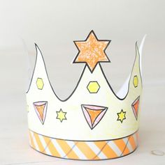 Printable Purim Crown - Coloring & Crafts - Jewish Kids | Chabad