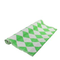 4u0027 X 6u0027 Fancy Fair Dynamite Diamonds Green And White Outdoor Patio Throw Rug