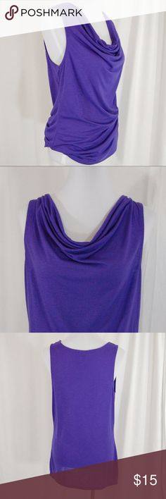 """Purple Lightweight Cowl Neck Tank Top Bright purple.  Cowl neck. Super soft and lightweight. Unlined.  Great condition - worn twice.  Approximate measurements (taken flat): Bust = 19"""" Length = 28""""  There is some stretch to the fabric  <PP13> Mossimo Supply Co. Tops Blouses"""