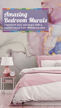 Looking to update your sanctuary? Give it the feature wall it NEEDS with a custom made wallpaper mural from Wallsauce.com. Click to find your perfect design... Bedroom Murals, Bedroom Wallpaper, Awesome Bedrooms, Beautiful Bedrooms, Custom Wall Murals, Design, Wall Murals Bedroom, Bedroom Wall Pictures
