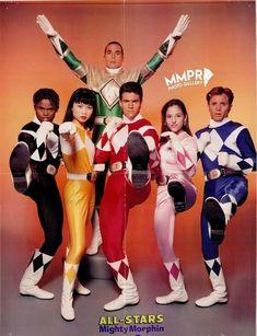 Green Power Ranger, Pink Power Rangers, Jason David Frank, Original Power Rangers, Amy Jo Johnson, Power Rengers, Power Ranger Birthday, Nostalgia, American Series