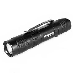 Kamisafe KM-MN10 Cree Q5 LED Mini AA Pocket Flashlight Torch Waterproof EDC Tactical Flashlight with Clip (Black) ** See this great product.