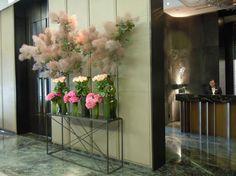 hotel lobby floral installation