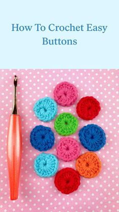 Learn To Crochet, Easy Crochet, Free Crochet, Knit Crochet, Crochet Buttons, Crochet Stitches, Crochet Hooks, Amigurumi Patterns, Knitting Patterns