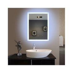 Backlit Illuminated Mirror LED Lighting Bathroom Vanity Rectangle Cosmetic  Shave