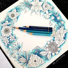 Colored Pencil Tutorial, Colored Pencil Techniques, Coloring Book Art, Coloring Tips, Adult Coloring, Secret Garden Book, Colored Pencil Artwork, Colored Pencils, Secret Garden Colouring
