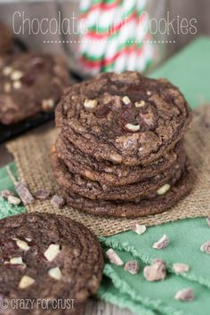 Double Chocolate Mint Cookies | crazyforcrust.com