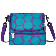 Wine Decanters - Wildkin Big Dots Aqua Double Decker Lunch Bag *** You can find more details by visiting the image link.