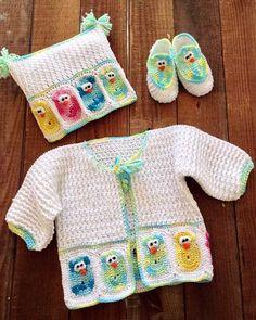 Baby Owl Layette Crochet Pattern ༺✿Teresa Restegui http://www.pinterest.com/teretegui/✿༻