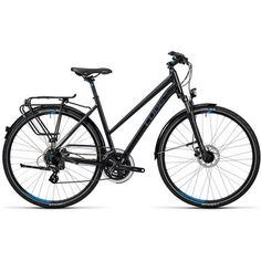 CUBE TOURING PRO Damen Trekkingrad - 2016 - black grey blue - Bike24