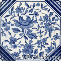 Victorian Transferware  #2 ceramic accent tile from Villa Lagoon Tile