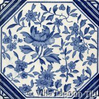 Victorian Transferware  #2 ceramic accent tile from Villa Lagoon Tile
