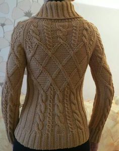 Cabled sweater- knitspiration