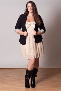 Stylish plus size outfit.