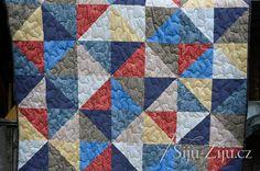 Half square quilt for man / Šiju-Žiju. Man Quilt, Square Quilt, Quilts, Blanket, Men, Scrappy Quilts, Quilt Sets, Guys, Blankets