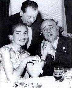 Maria Callas y Beniamino Gigli (Sanremo, 1954)