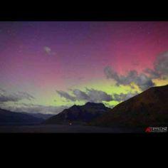 Southern Aurora Lights over Queenstown