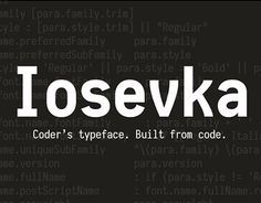 Iosevka is a slender open-source monospace sans-serif and slab-serif typeface inspired by Pragmata Pro, M+ and PF DIN Mono, designed to be the ideal font for programming. FREE.  License: declared as free, no proper license given.