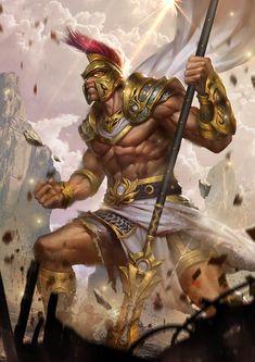 Ares- God of War, Lord of Conquest & Commander of the Spartans Greek Mythology Gods, Greek Gods And Goddesses, Roman Mythology, Greece Mythology, Dark Fantasy Art, Fantasy Armor, Kratos God Of War, Son Of Zeus, Roman Gods