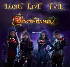 Mal Evie Jay and Carlos descendants 2 Disney channel