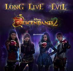 Mal Evie Jay and Carlos descendants 2 Disney channel