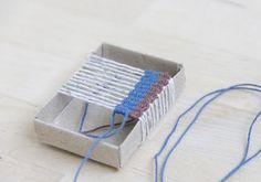 weaving a rug for a doll house