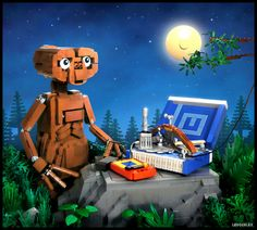 Check out the E.T. LEGO Ideas project here. This MOC is inspired from a scene in the movie E.T. - The Extra Terrestrial, where E.T. is trying to contact his alien friends in the spaceship by using his communicator that he and 10 year old Elliot built. What is fascinating is that they built it from household items that E.T. fround in the house.