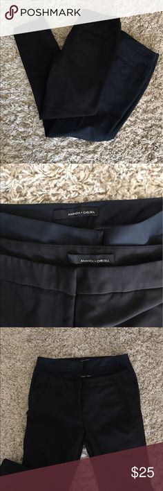 Amanda & Chelsea Capri slacks One is black . One is navy . Both are size 6. Good as new . No flaws . Both are $25 each, if bought together only $30 Amanda & Chelsea Pants Trousers