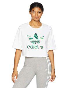 7061252168c91 adidas Originals Women s Farm Cropped Tee
