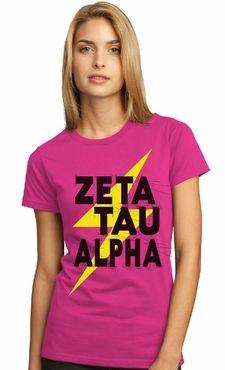 Zeta Tau Alpha - lightning bolt tee
