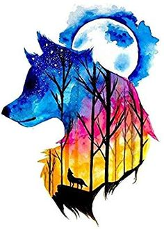 Beautiful And Colorful Wolf Drawing - Colorful Wolf Watercolour With Images Art Painting Galaxy Art Colorful Wolf Colored Pencil And Mixed Media Drawing By Beautiful Wolf Art Wolf Painting. Cool Art Drawings, Cute Animal Drawings, Art Drawings Sketches, Wolf Wallpaper, Animal Wallpaper, Marshmello Wallpapers, Mythical Creatures Art, Fantasy Creatures, Wolf Spirit Animal