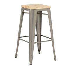 High LIX Brushed Wood Stool  #brushed #stool High Stool, Wood Stool, Bar Stools, Furniture, Home Decor, Bar Stool Sports, Decoration Home, Room Decor, Counter Height Chairs
